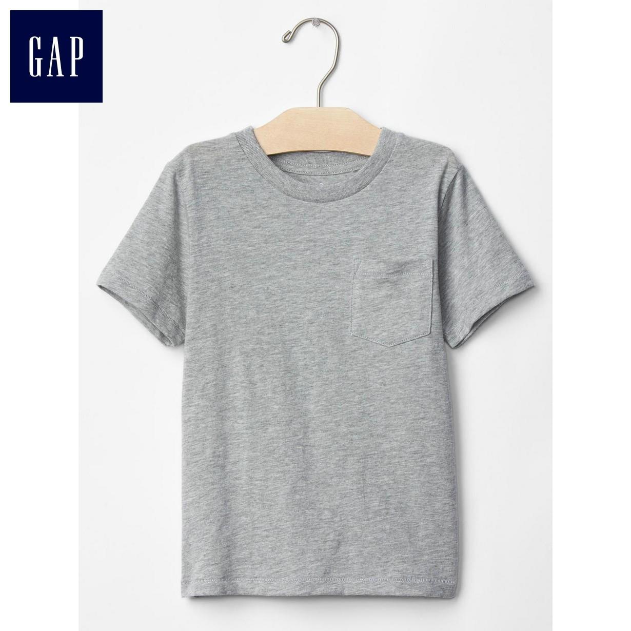 Gap男幼童 簡潔純色單袋短袖T恤101226