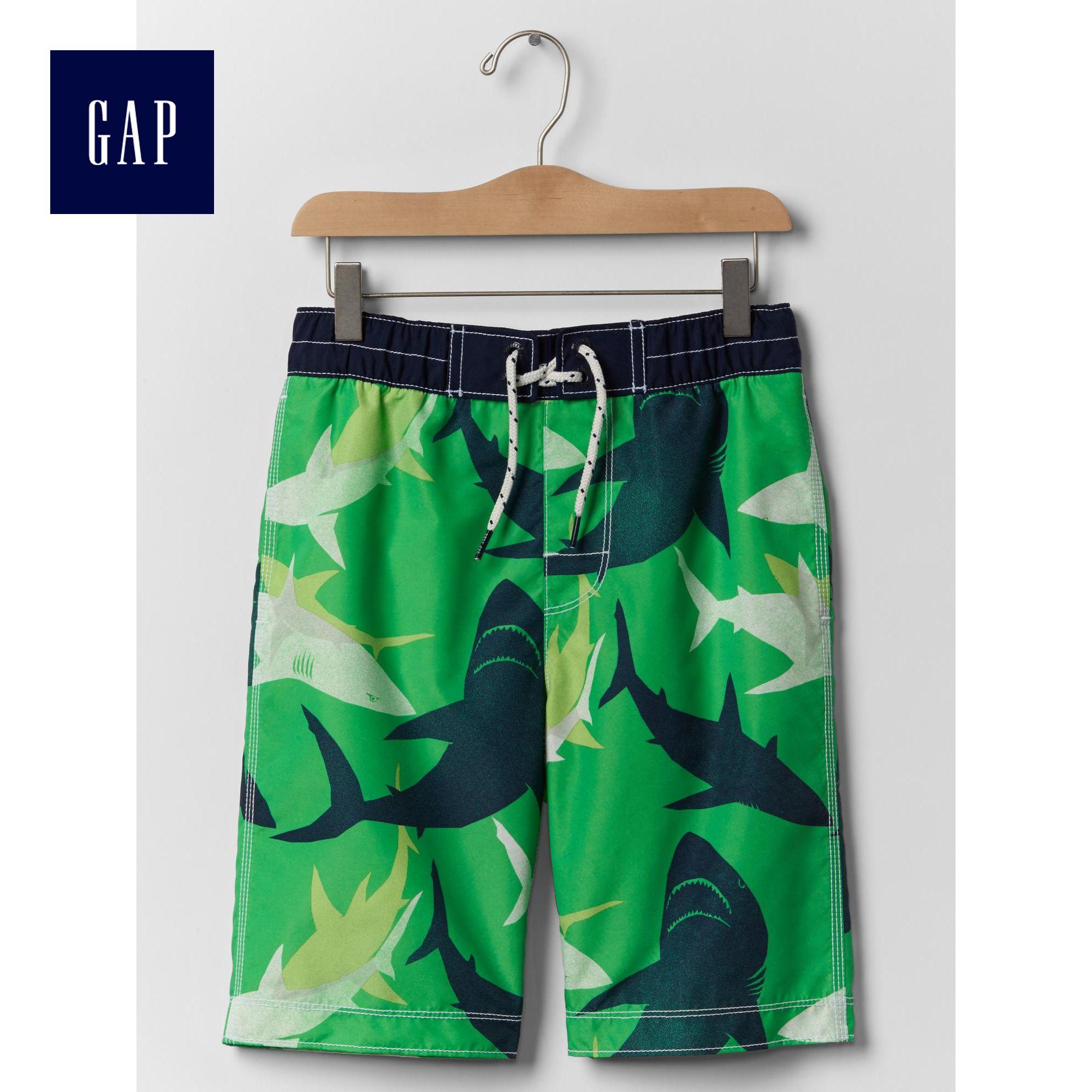 Gap男童 活力動感風格鬆緊腰沙灘短褲195469~1