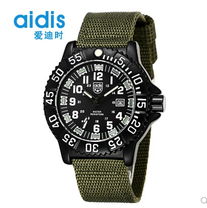 Mens watch fashion mens net red new concept black technology luminous canvas waterproof personality cool quartz electronic Military Watch