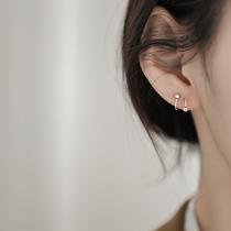 925纯银简约弹簧耳钉2020年新款潮耳饰小众冷淡风耳环女巷南