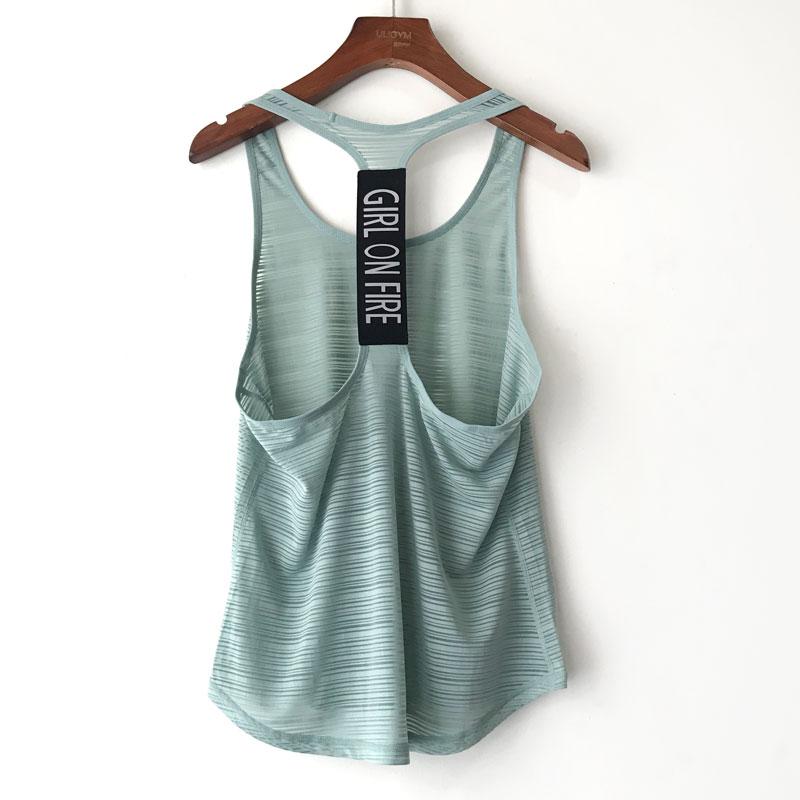 女瑜珈服T字美背镂空快干运动罩衫运动跑步衣 健身背心女包邮