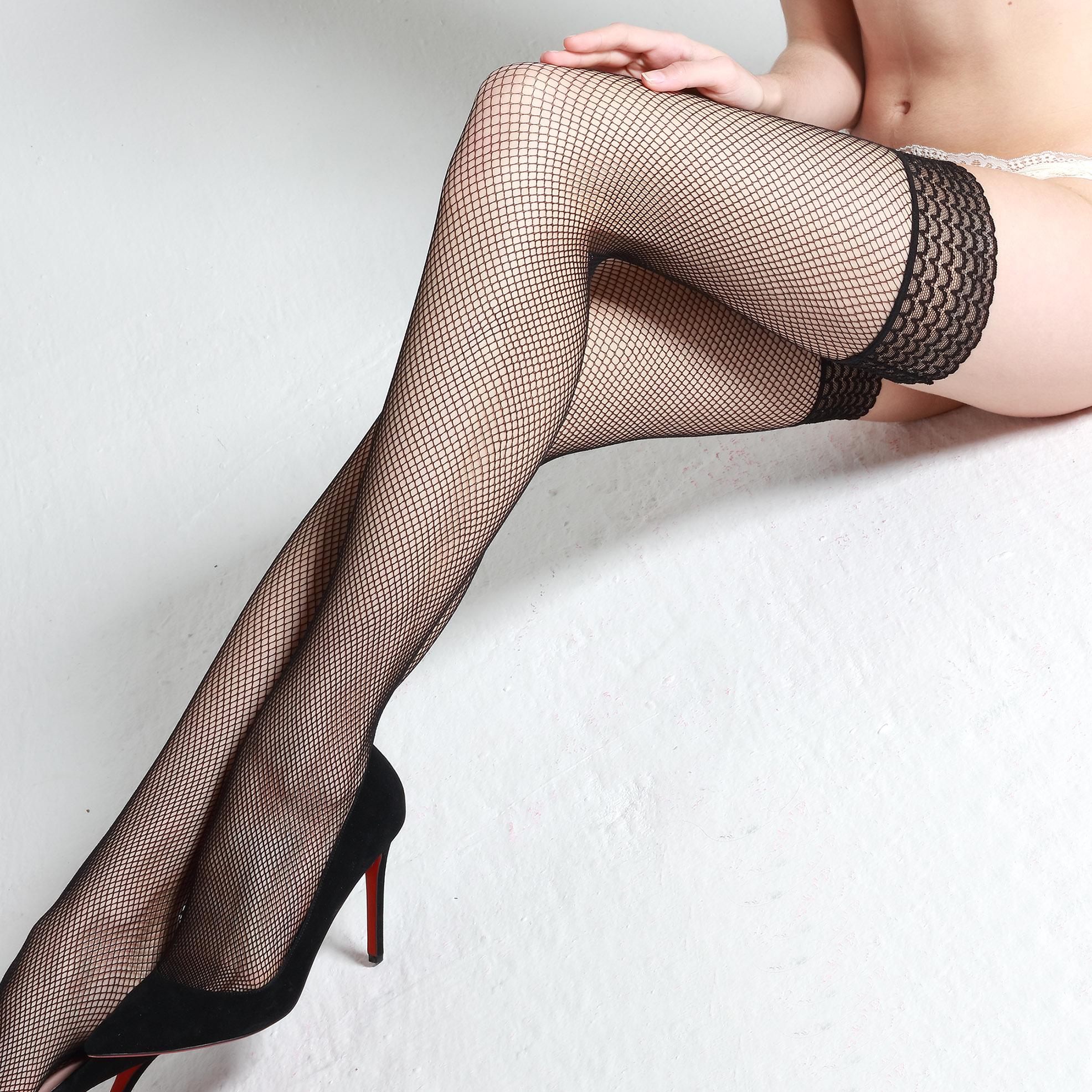 网袜长筒超薄款蕾丝花边镂空防滑性感过膝袜丝袜女夏高筒袜大腿袜