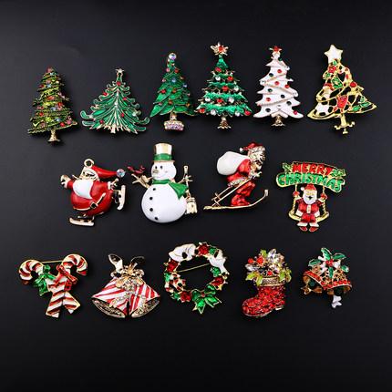 新款 圣诞组合系列胸针潮 圣诞老人 鹿 圣诞节胸针 新年 别针