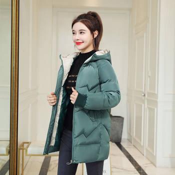 新款棉衣女潮中长款冬装女士ins宽松服冬季羽绒棉服外套棉袄