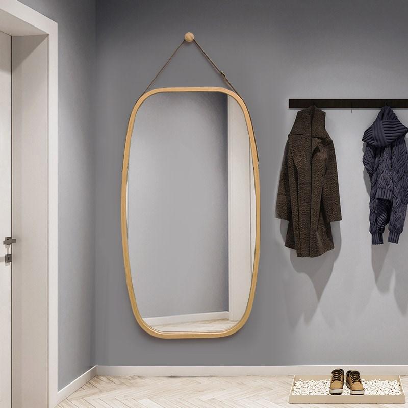 网红抖音全身镜子贴墙穿衣镜挂墙壁挂家用半身可背落地外景试衣镜