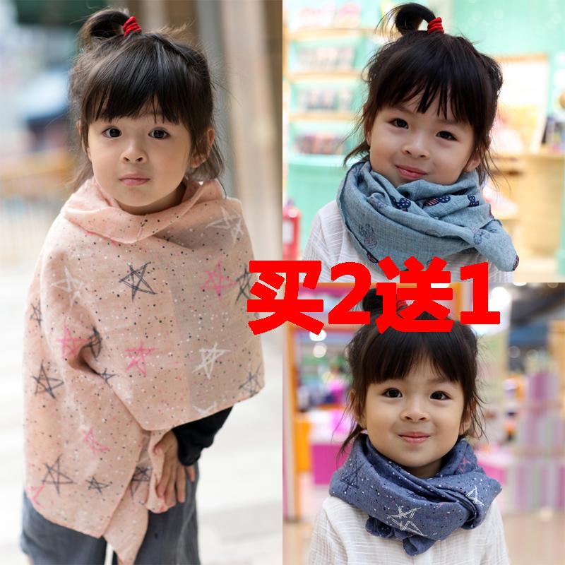 Новый человек дочь ребенок льняная ткань шарф ребенок шарфы тонкий демисезонный ребенок нагрудник ребенок шарф осень и зима волна
