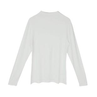 2020秋冬裝新款修身顯瘦半高領長袖打底衫網紅純色百搭上衣T恤女