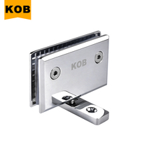 Kob brand Bright glass bathroom clip 360 degrees up and down shaft glass hinge rotating glass door clip