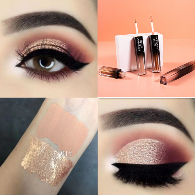 European and American eye makeup, meat paste, eye shadow, grapefruit, champagne, eye and lip, INS.