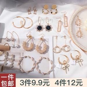 韩国气质耳钉网红高级感耳环女2020年新款潮爆款耳坠大气珍珠耳饰