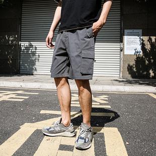 LMTNZD休闲短裤男外穿2021年夏季新款复古国潮机能工装宽松五分裤