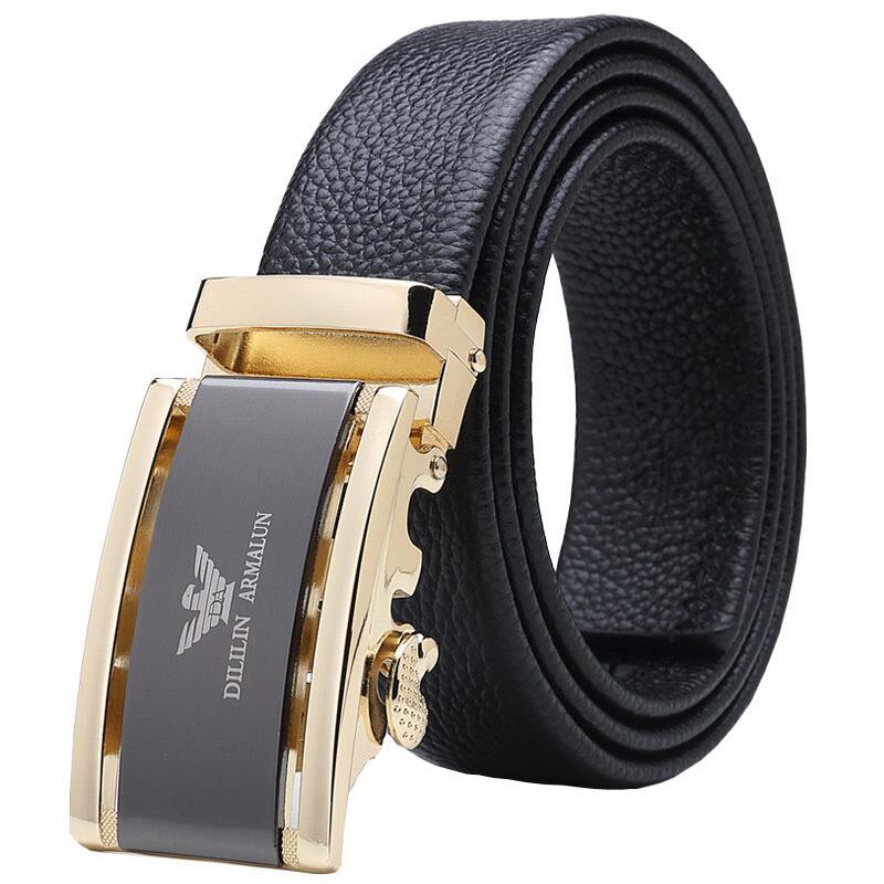 Royal Armani mens belt automatic buckle leather belt youth pure leather business mens belt young people