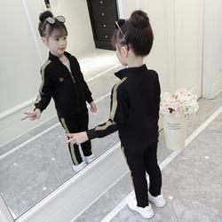 童装女童秋装套装2020新款儿童时髦洋气春秋款网红大童运动三件套