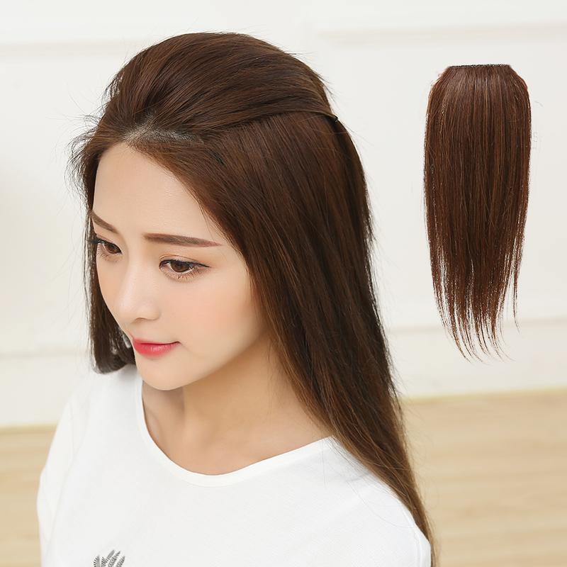 真发垫高假发片蓬松头两侧增发真发片无痕接发片垫发根蓬松假发女