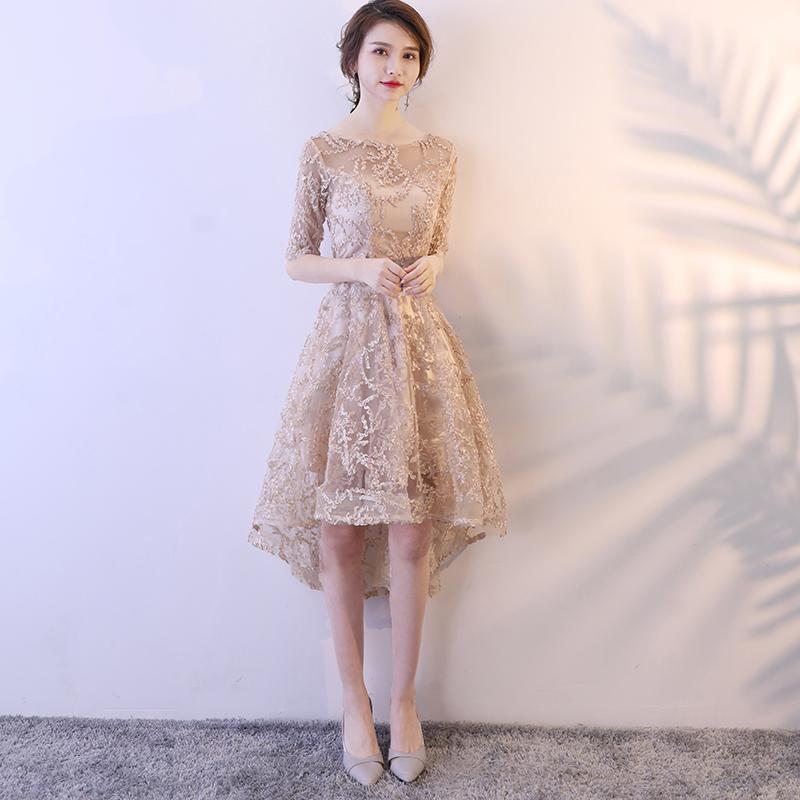 演出小晚礼服女2021新款宴会气质前短后长显瘦聚会派对公主连衣裙