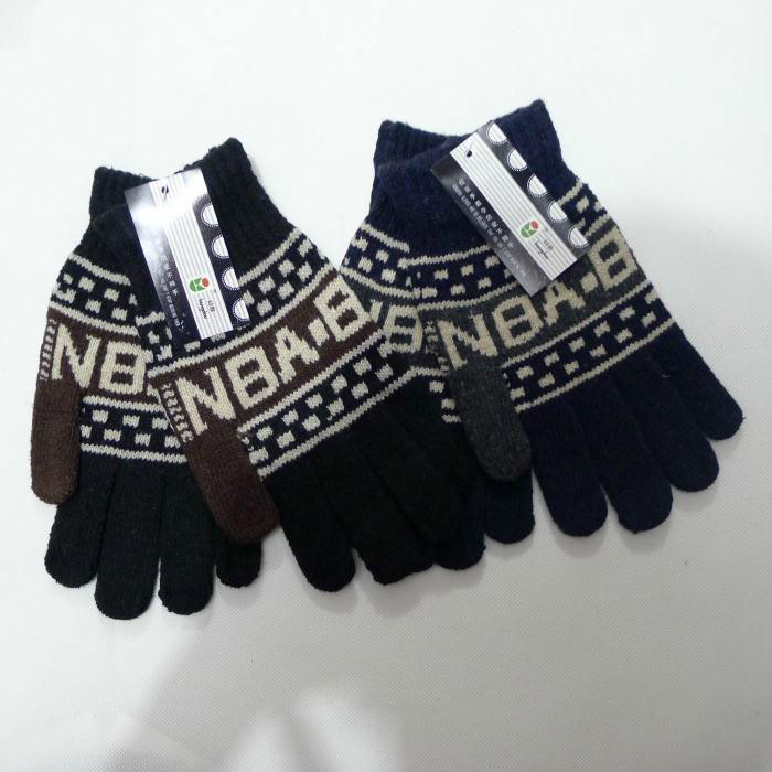 10 pairs of postal Korean fashion winter cashmere mens warm jacquard wool gloves finger thickening gloves wholesale