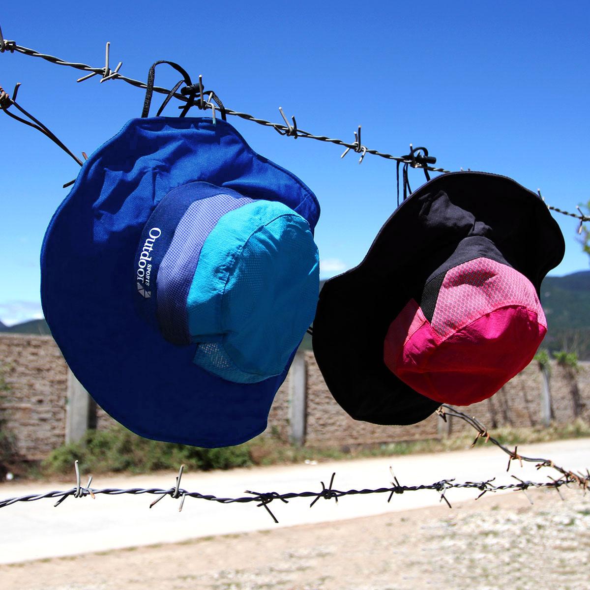 雪丘岛户外新款速干拼色渔夫帽夏季防晒遮阳帽户外百搭盆帽男女款