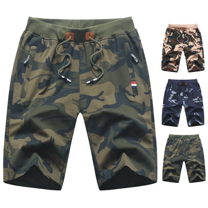 Fashion brand hot summer new camouflage Capris youth fashion sports short pants cross border large SHORTS MEN