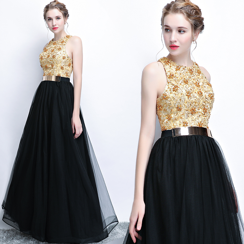 宴会晚礼服2018新款时尚长款修身高贵优雅显瘦主持晚装连衣裙女春