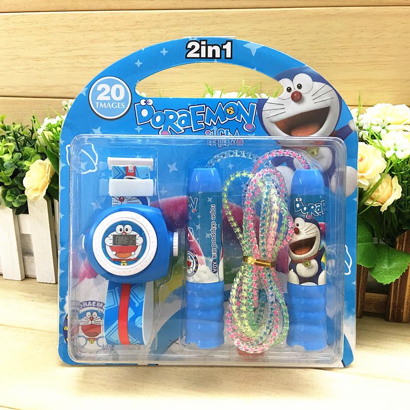 儿童创意投影手表+跳绳套装 小学生礼品节日活动用品生日礼物批发