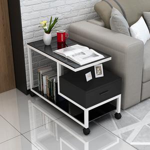 简约现代客厅边几柜沙发边角柜移动小边茶几迷你卧室床头边柜北欧