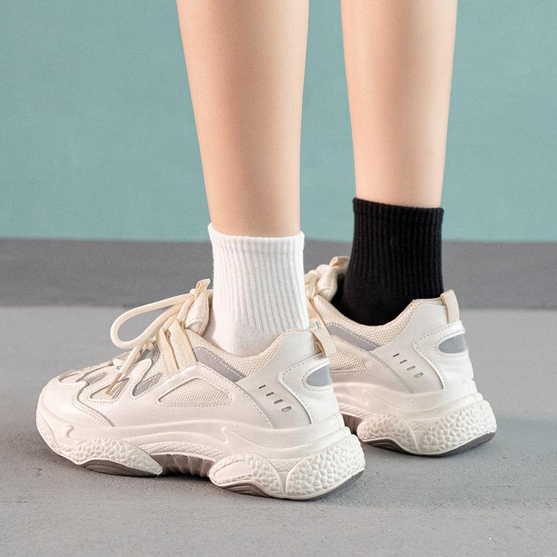 袜子女中筒袜春秋黑白色短袜纯棉ins潮牌韩版学院风日系学生夏季