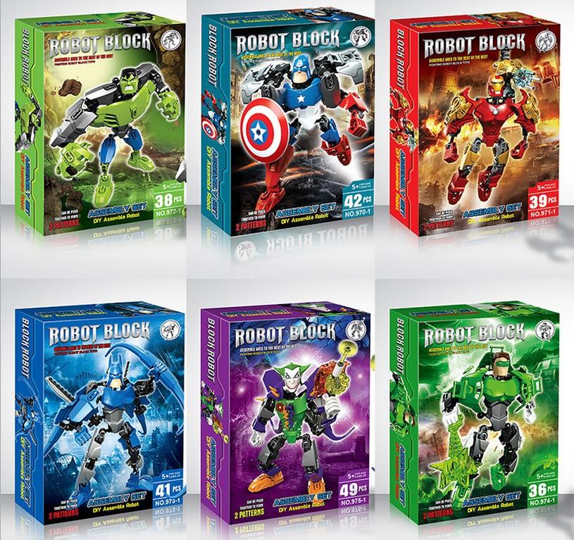 复仇者联盟拼装益智玩具超级英雄积木钢铁侠绿巨人蝙蝠侠美国队长