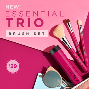 领5元券购买sigma三支便携套装系列Essential Trio Brush Set