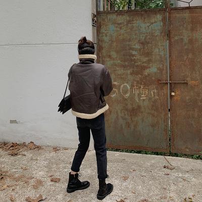 黑色裤子高腰加绒牛仔裤女秋冬新款潮直筒宽松显瘦显高小脚九分裤
