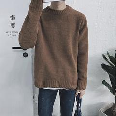 冬季新品圆领绒毛男士纯色毛衣M02-p65