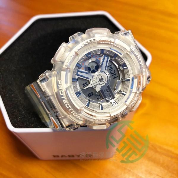 卡西欧G-SHOCK 透明白色限量GA-110FRG-7A手表BA-110CR-7A,可领取元淘宝优惠券