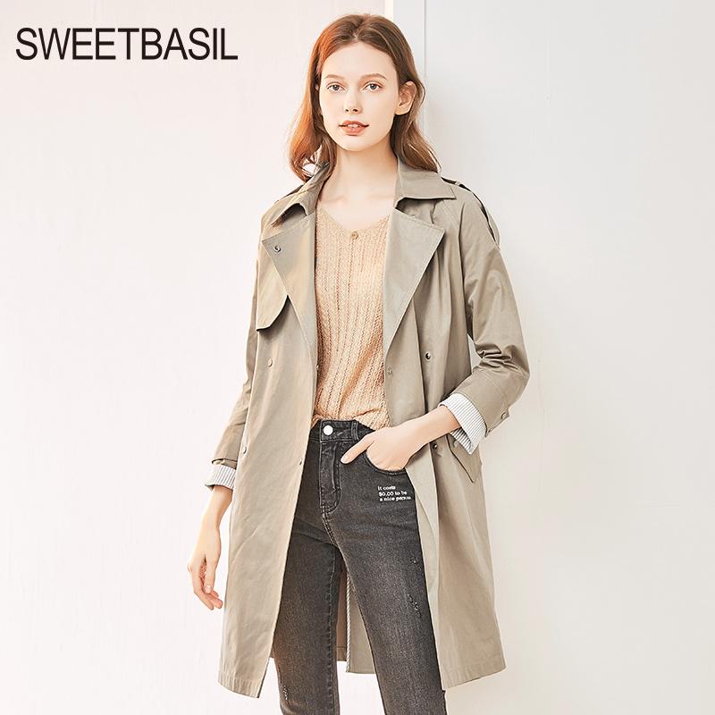 紫淑风衣女中长款2020年春季新款早春小个子精品大衣流行女装外套
