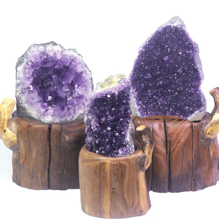 特价乌拉圭天然紫晶簇摆件紫晶洞块 紫水晶洞片原石 消磁招财镇宅