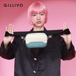 Gillivo2021新款休闲女包拼色单肩包手机包时尚潮流牛皮斜挎包