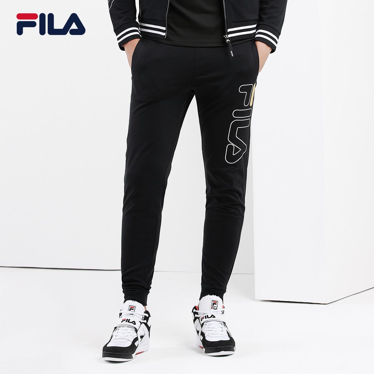 FILA斐乐运动裤男2018秋季新品透气休闲修身时尚运动缩口长裤男