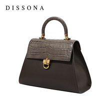 Desanna bag, European and American fashion handbag, small group, light luxury women's bag, buckle, cowhide temperament, one shoulder Kelly bag