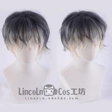 LINCOLNIDOLiSH7は、グループ再前任者:色のグラデーションコスプレウィッグあたりの谷