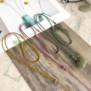 纯手工编织绳宝宝挂绳端午节绳艺女款细绳和田玉翡翠绳蜜蜡琥珀绳