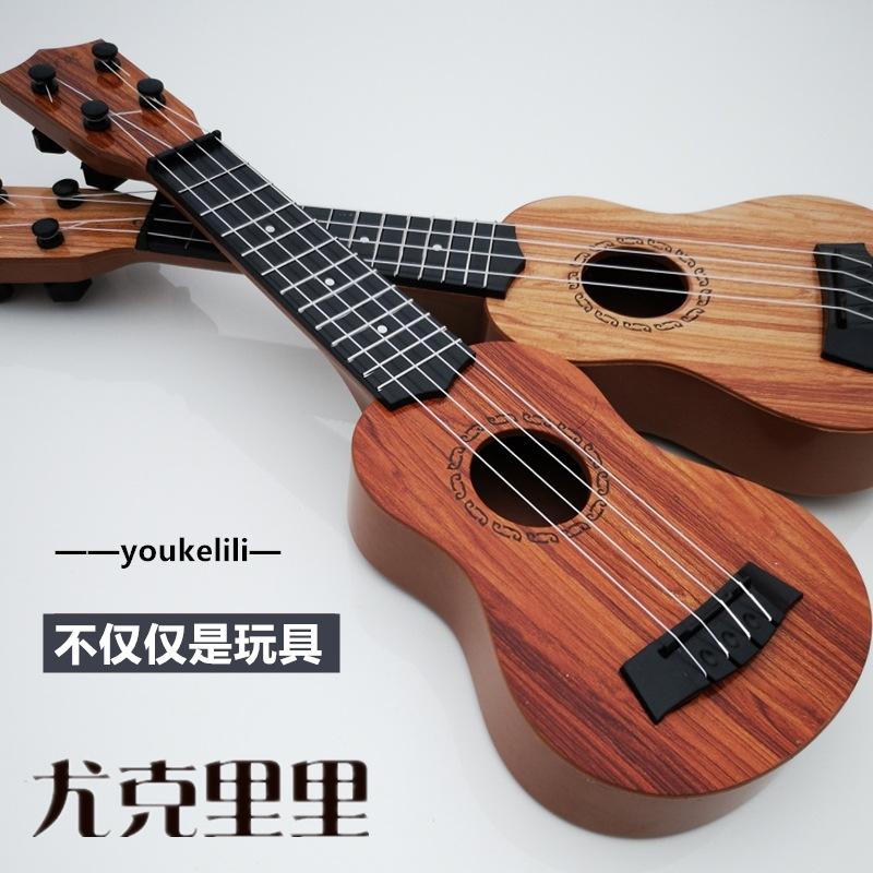 儿童音乐小吉他可弹奏中号尤克里里仿真乐器琴男女宝宝玩具3-12岁