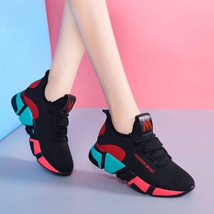 新款春秋季老北京布网鞋单鞋平底防滑运动休闲鞋舒适透气跑步女鞋