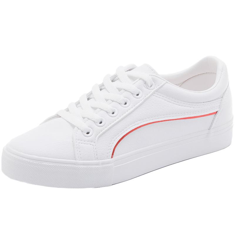 街拍小白鞋女春秋季2018新款网红女鞋百搭韩版平底板鞋学生白鞋子