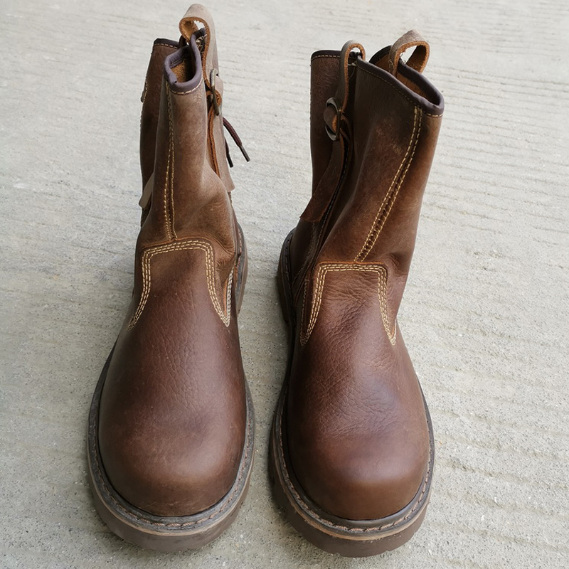 特价清仓!夏季牛皮工装靴真皮男靴潮流皮靴筒靴透气马丁靴女马靴