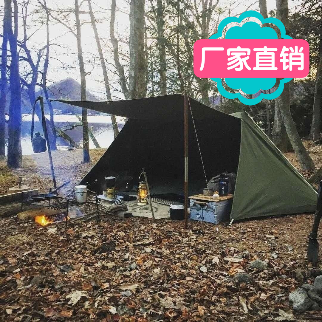 Under the weathe庇護所テントbushcraft野外生存軍幕屋外キャンプテント