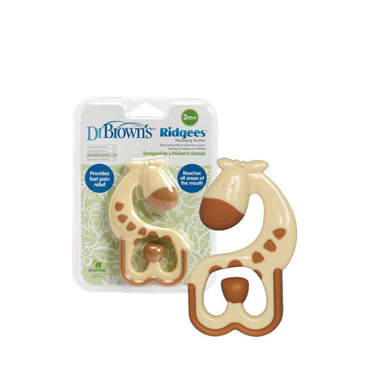 布朗博士寶寶磨牙器嬰兒玩具小鹿牙膠按摩牙膠TE445