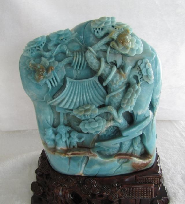 贵州晴隆贵翠多彩玉石加工居家书房办公室的摆件包邮寓意热情好客