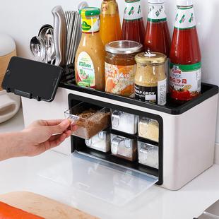 多功能调料盒置物架调料瓶收纳架调味罐收纳盒调味品厨房用品套装图片