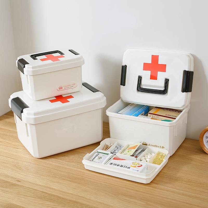 Семья небольшой врач медицина использование многослойный ребенок аптечка первая помощь медицина статья ящик коробка домой пластик врач лечение Большой Фармацевтический из консультация