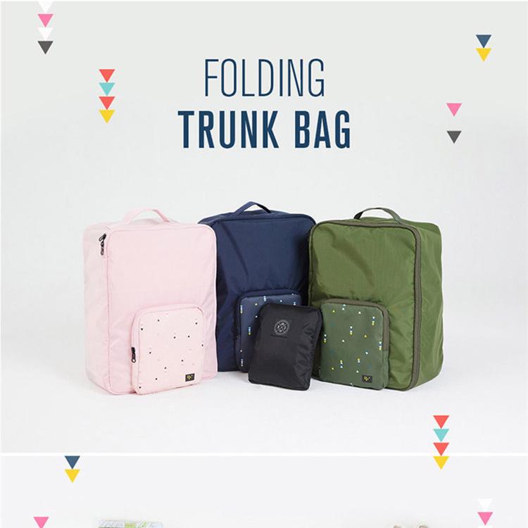 Business trip single shoulder bag handbag foldable knapsack pull rod case bag luggage storage bag sports bag