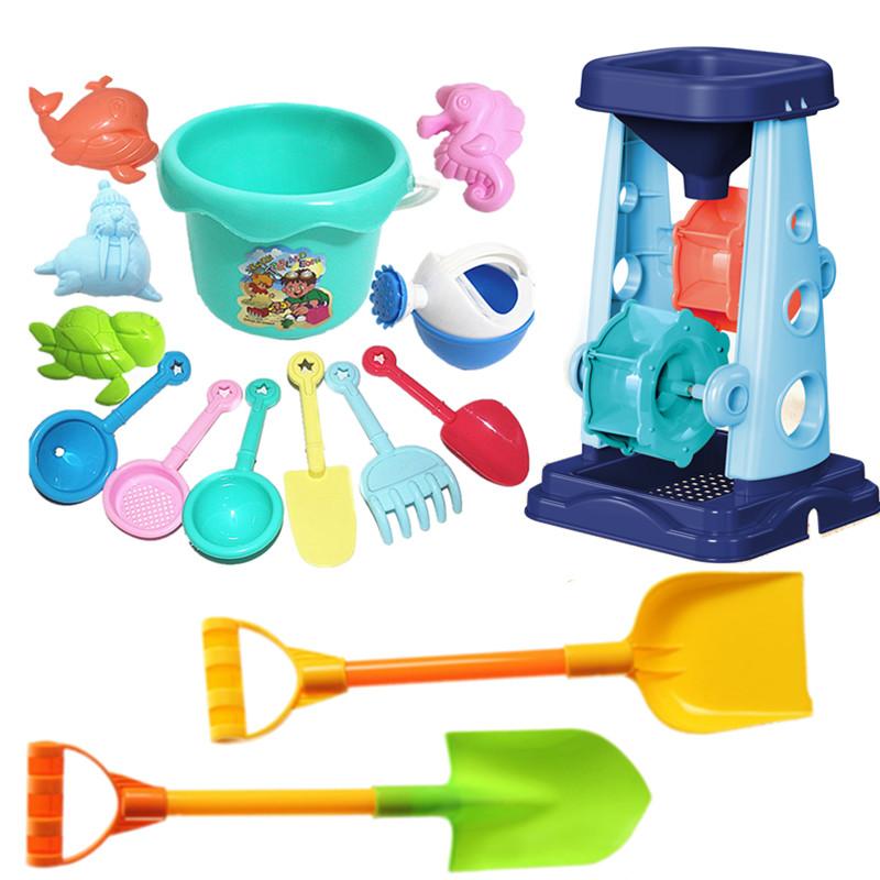 沙滩玩具套装儿童玩沙挖沙工具铲子水桶沙漏男女宝宝海边洗澡戏水