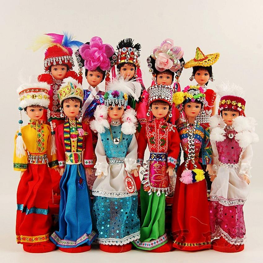 云南56个少数民族 幼儿园用品特色装饰品北京绢人娃娃 出国小礼品